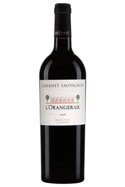 Bouteille de vin rouge L'Orangeraie cabernet sauvignon