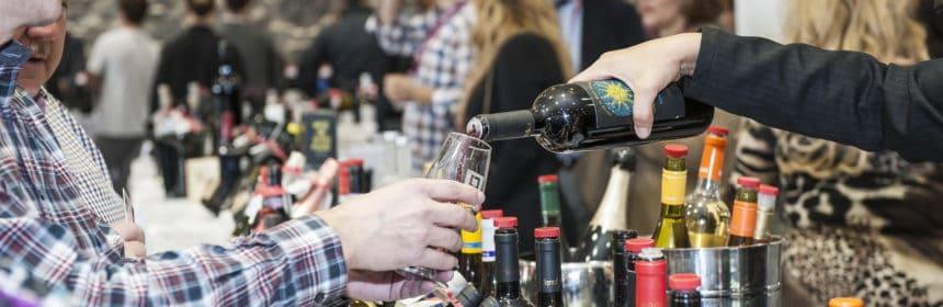 , Un salon pour acheter du vin d'importation privée