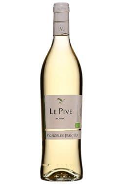 Bouteille de vin blanc Le Pive blanc Pays d'Oc