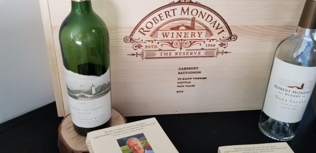 Dégustation des vins de Robert Mondavi