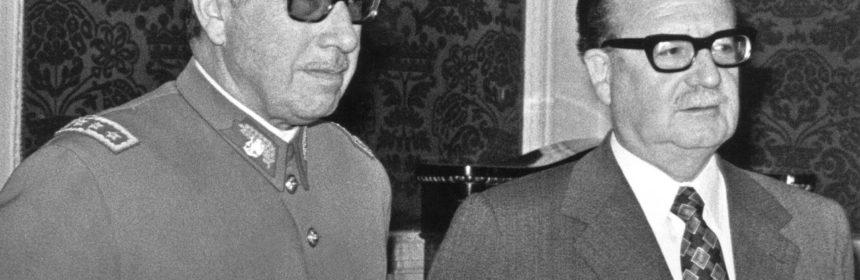 Augusto Pinochet et Salvador Allende