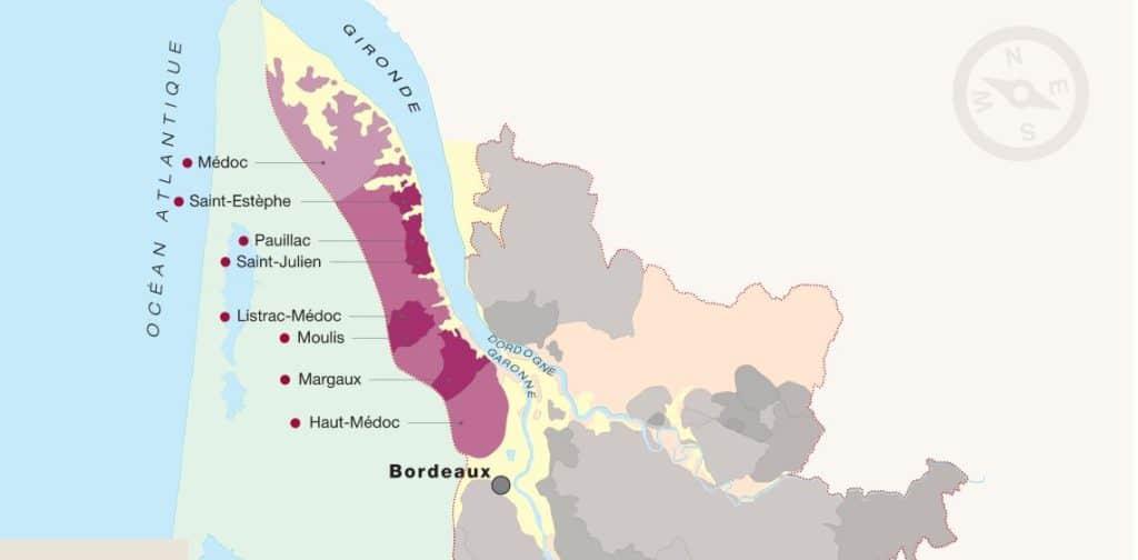 Carte du Médoc - Tout sur le Vin