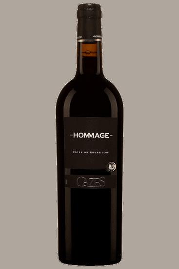 Bouteille de vin rouge Cazes Hommage Cotes du Roussillon 2019