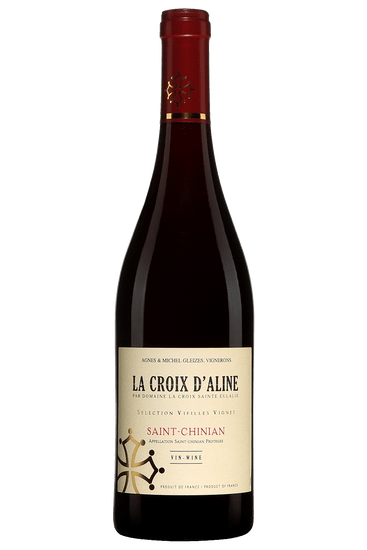 Bouteille de vin rouge de Domaine La Croix Sainte-Eulalie Saint-Chinian La Croix d'Aline 2019