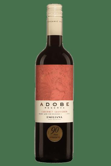 Bouteille de vin rouge Emiliana Adobe Cabernet-Sauvignon Reserva Valle Central
