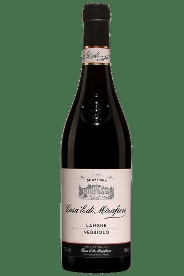 Bouteille de vin rouge Mirafiore Langhe 2018