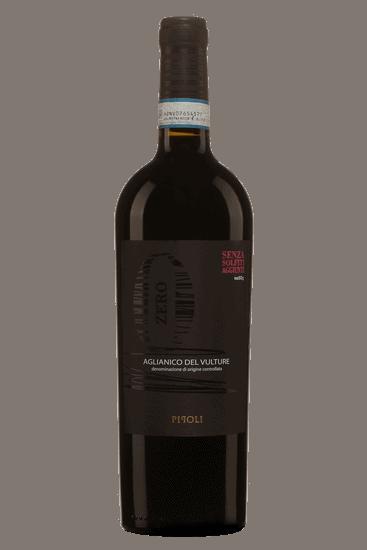 Bouteille de vin de Pipoli Zero Aglianico del Vulture 2018