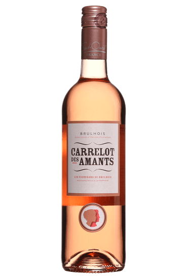 Bouteille de vin rosé Carrelot des Amants