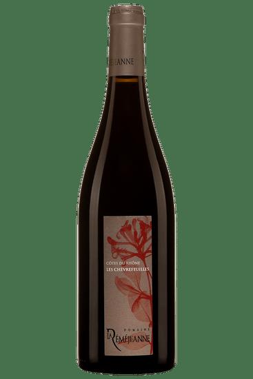 Bouteille de vin rouge du Domaine La Réméjeanne Les Chèvrefeuilles Côtes du Rhône 2017