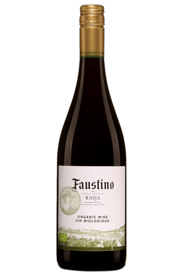 Bouteille de vin rouge Faustino Rioja
