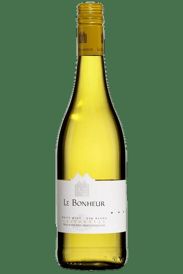 Bouteille de vin blanc Le Bonheur Chardonnay Simonsberg-Stellenbosch