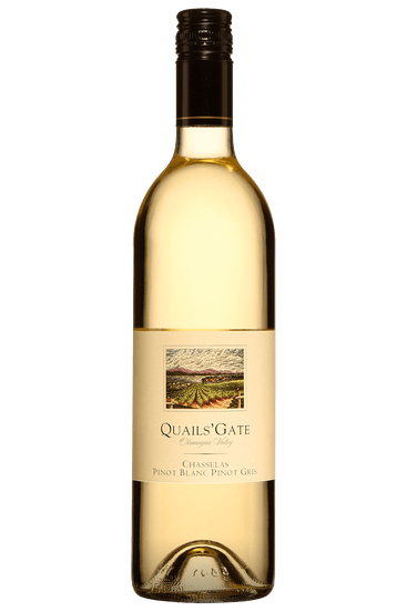 Bouteille de vin blanc Quails' Gate Chasselas Pinot Blanc Pinot Gris 2019