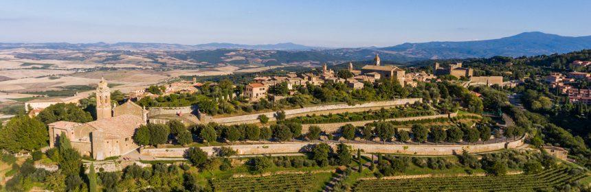 Paysage de Montalcino en Toscane