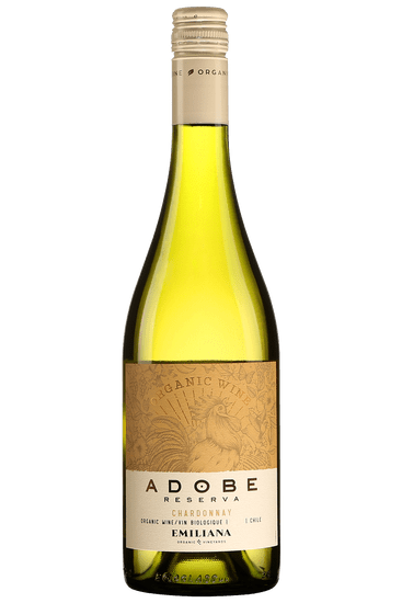 Bouteille de vin blanc Emiliana Adobe Chardonnay Reserva Valle Casablanca 2020