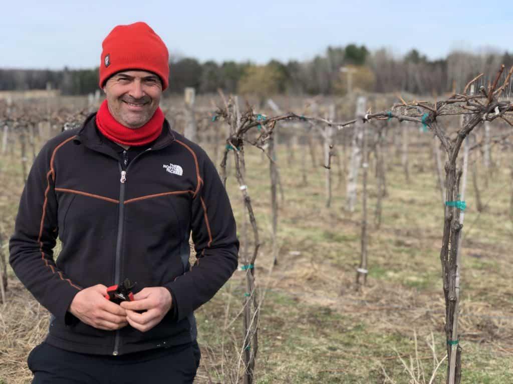 SImon Naud au Vignoble de la Bauge