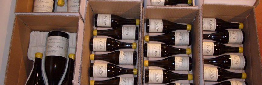 Bouteilles de vin de Bourgogne