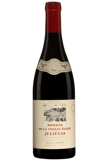 Bouteille de vin rouge Maison Loron Juliénas Domaine de la Vieille Eglise 2018