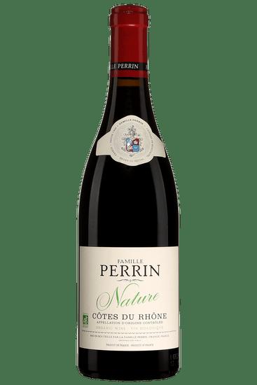 Bouteille de vin rouge Perrin Nature Côtes du Rhône 2018
