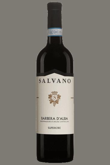 Bouteille de vin rouge Salvano Barbera d'Alba Superiore 2018