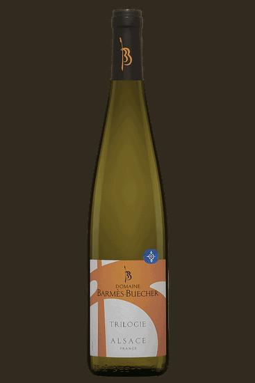 Bouteille de vin blanc Domaine Barmès Buecher Trilogie 2019