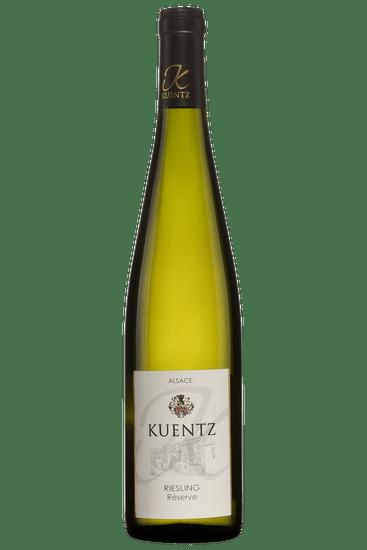 Bouteille de vin blanc Kuentz Riesling Réserve 2018