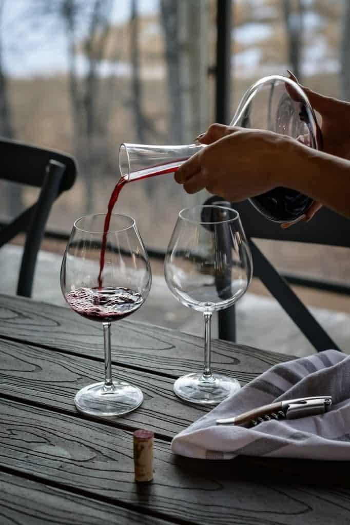 Carafe de vin rouge